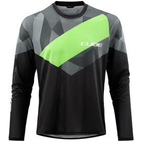 Cube Edge Maillot manches longues à col rond Homme, black´n´green